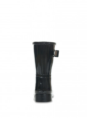 HUNTER GUMMISTÖVEL ORIGINAL REFINED SHORT GLOSS BLK