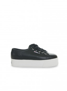SUPERGA SNEAKER 2790 FGLU LEATHER BLACK