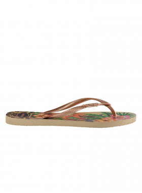 HAVAIANAS FLIP-FLOP SLIM TROPICAL SAND GREY/ROSE