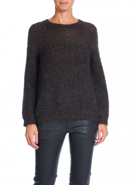 CATHRINE HAMMEL TRÖJA ROUNDED SWEATER CHARBON