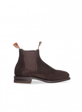 R.M. WILLIAMS BOOTS MACQUAIRE SUEDE BROWN