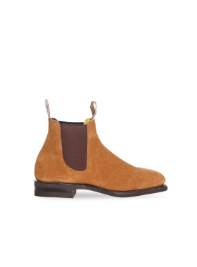R.M. WILLIAMS BOOTS MACQUAIRE SUEDE MID BROWN