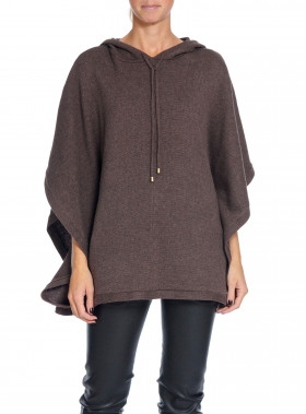 LEXINGTON TRÖJA DEVON PONCHO DARK BROWN COFFEE