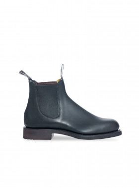 R.M. WILLIAMS BOOTS GARDENER GREASY KIP BLACK
