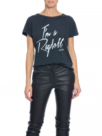 RAGDOLL LA TOP VINTAGE BLACK/WHITE ROCK