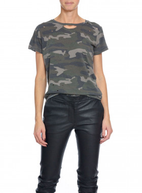 RAGDOLL LA TOP DISTRESSED VINTAGE CAMO