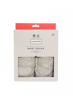 HUNTER STICH CABLEBOOT SOCK GRIEGE
