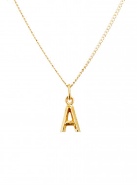 BLUE BILLIE BERLOCK LETTER A GOLD