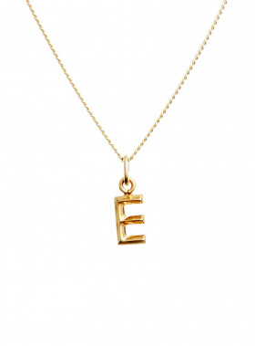 BLUE BILLIE BERLOCK LETTER E GOLD