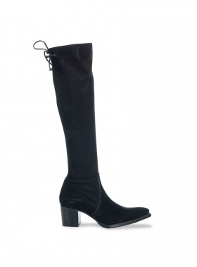 PRIMEBOOTS STÖVEL SELENA HIGH 202 SUEDE BLACK