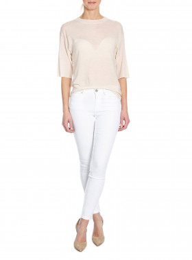 2NDDAY JEANS SALLY CROPPED WHITE