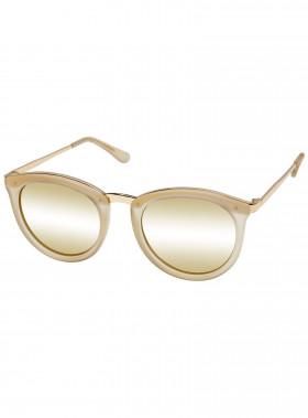 LE SPECS SOLGLASÖGON NO SMIRKING SAND RUBBER/GOLD