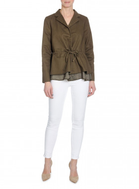 CATHRINE HAMMEL KAVAJ TWILL GATHERED ARMY GREEN