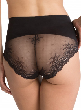 SPANX LACY CHEEKY UNDIE-TECTABLE BLACK