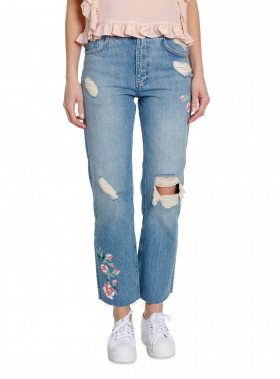 ANINE BING JEANS EMBROIDERED