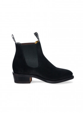 R.M. WILLIAMS BOOTS THE YEARLING SUEDE BLACK