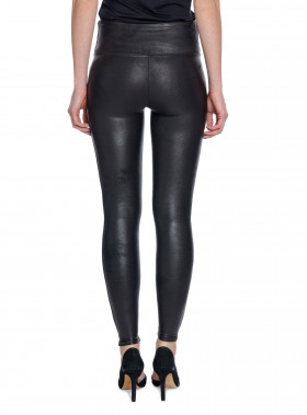 SPANX LEGGINGS LEATHER LOOK BLACK