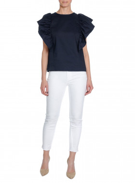 2NDDAY TOP LILY NAVY