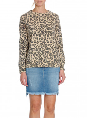 RAGDOLL LA SWEATSHIRT DISTRESSED LEOPARD