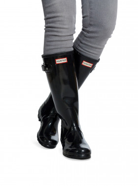 HUNTER GUMMISTÖVEL WOMENS ORIGINAL TALL GLOSS BLACK