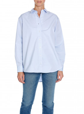 TOTÊME SKJORTA CAPRI POPLIN LIGHT BLUE
