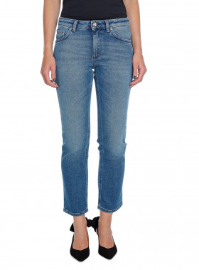 TOTÊME JEANS STRAIGHT DENIM MID BLUE
