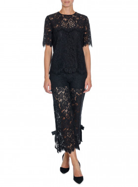 GANNI TOP DUVAL LACE BLACK