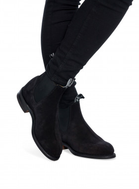 R.M. WILLIAMS BOOTS WENTWORTH SUEDE BLACK