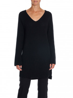 FILIPPA K TRÖJA RIBBED WOOL MIX TUNIC BLACK