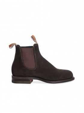 R.M. WILLIAMS BOOTS WENTWORTH SUEDE CHOCOLATE