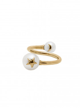 BLUE BILLIE RING PEARL STAR GOLD