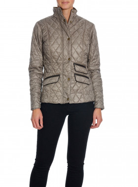 BARBOUR JACKA AUGUSTUS QUILT TAUPE