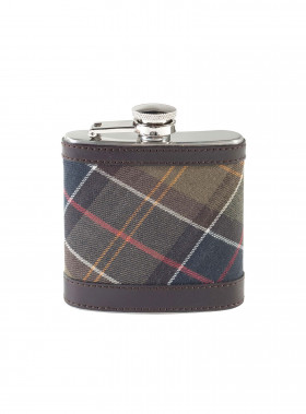 BARBOUR HERR HIP FLASK CLASSIC DK BROWN