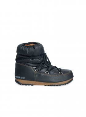 MOON BOOT W.E LOW NYLON NERO-BRONZO