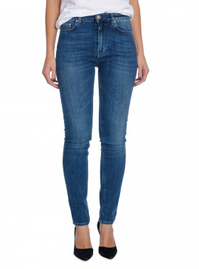 TOTÊME JEANS SLIM WAIST DENIM WASHED BLUE