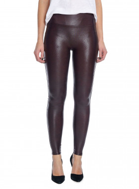 SPANX LEGGINGS LEATHER LOOK WINE