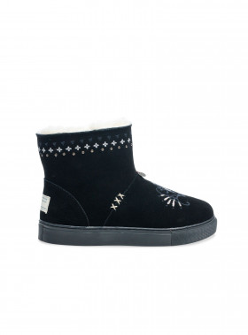 ODD MOLLY BOOTS SUEDEY LOW ALMOST BLACK