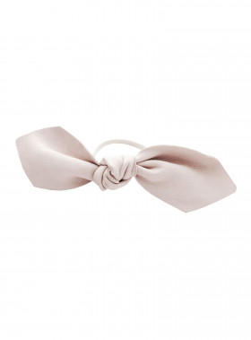 CORINNE HÅRBAND LEATHER BOWTIE PALE PINK
