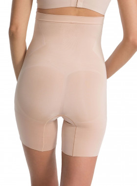 SPANX HIGH-WAIST MID-THIGH SHORT ONCORE SOFT NUDE
