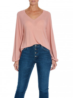 FILIPPA K BLUS V-NECK ROSE