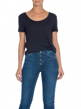 FILIPPA K TOP SCOOP NECK NAVY