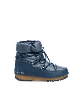 MOON BOOT W.E LOW NYLON DENIM BLUE