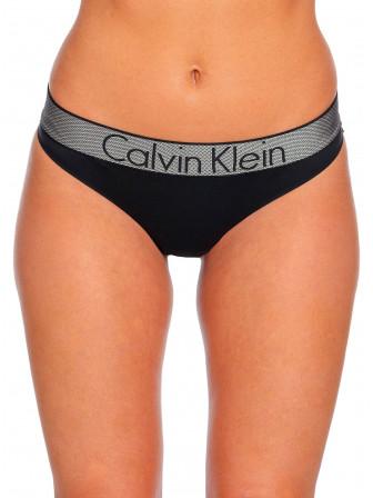 CALVIN KLEIN STRINGTROSA THONG BLACK