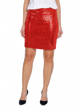 WHYRED KJOL JESSY SEQUIN RED