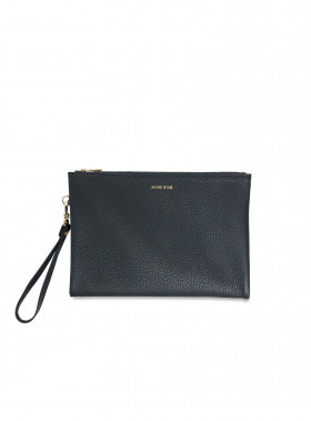 ANINE BING VÄSKA REESE DOUBLE-POCKET POUCH BLACK