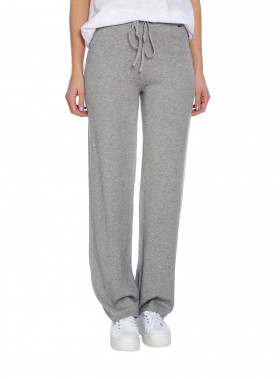 LEXINGTON BYXA LAINE KNIT PANTS WARM GREY MELANGE