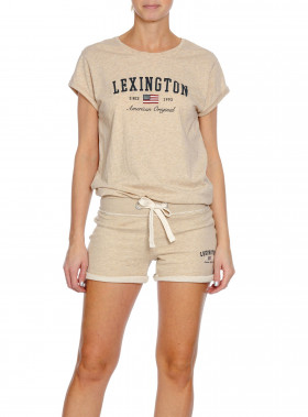LEXINGTON TOP VANESSA TEE FEATHER GREY MELANGE