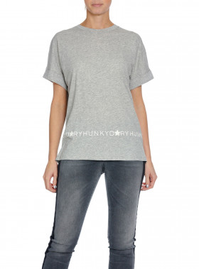 HUNKYDORY TOP H.D LOGO LIGHT GREY MELANGE