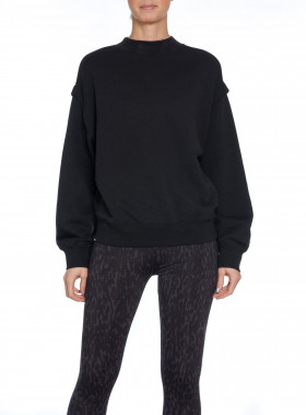 FILIPPA K TRÖJA RELAXED FELPA SWEATER BLACK