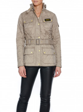 BARBOUR JACKA INTERNATIONAL QUILT TAUPE PEARL
